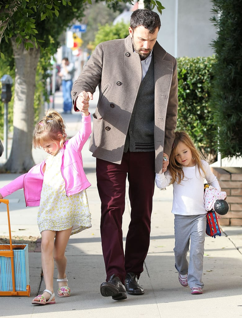 Ben Affleck held his daughters' hands in LA.