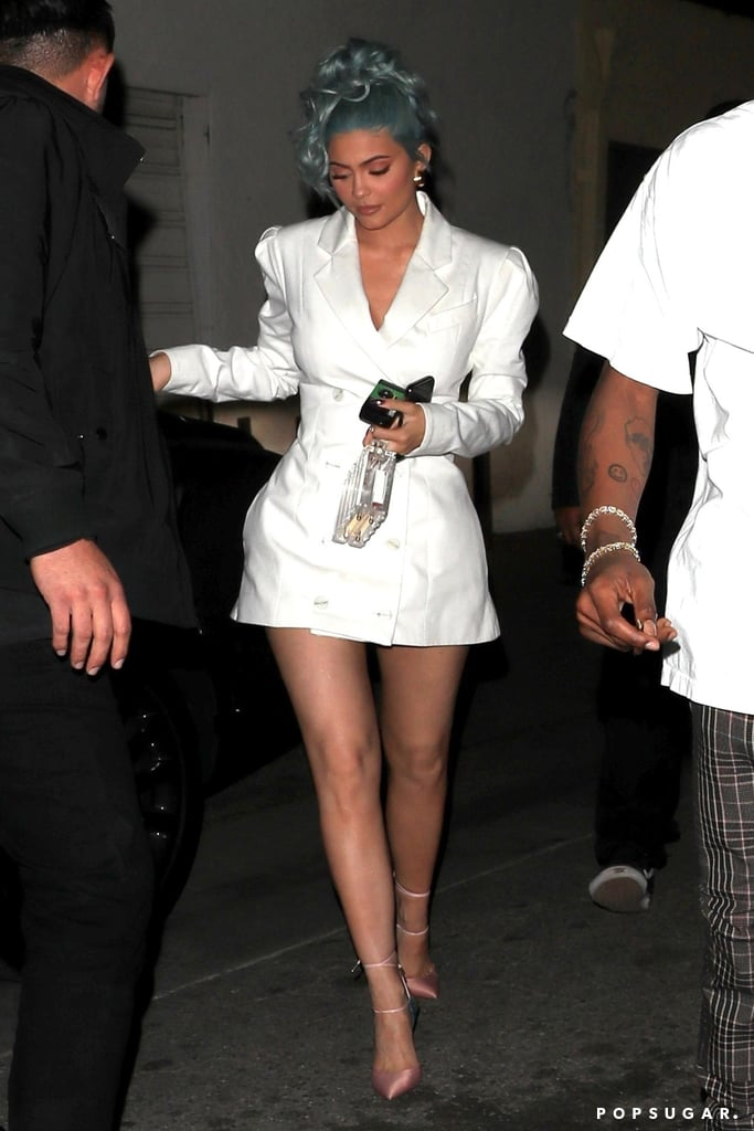 6b31f807786 Kylie Jenner and Meghan Markle White Blazer Dress