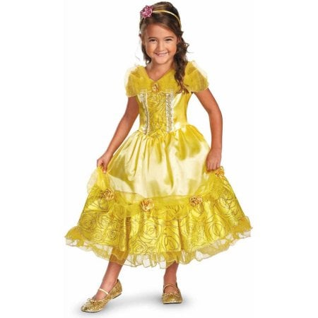 Disney Belle Deluxe Sparkle Girlsu0027 Child Halloween Costume  sc 1 st  Popsugar : child deluxe catwoman costume  - Germanpascual.Com