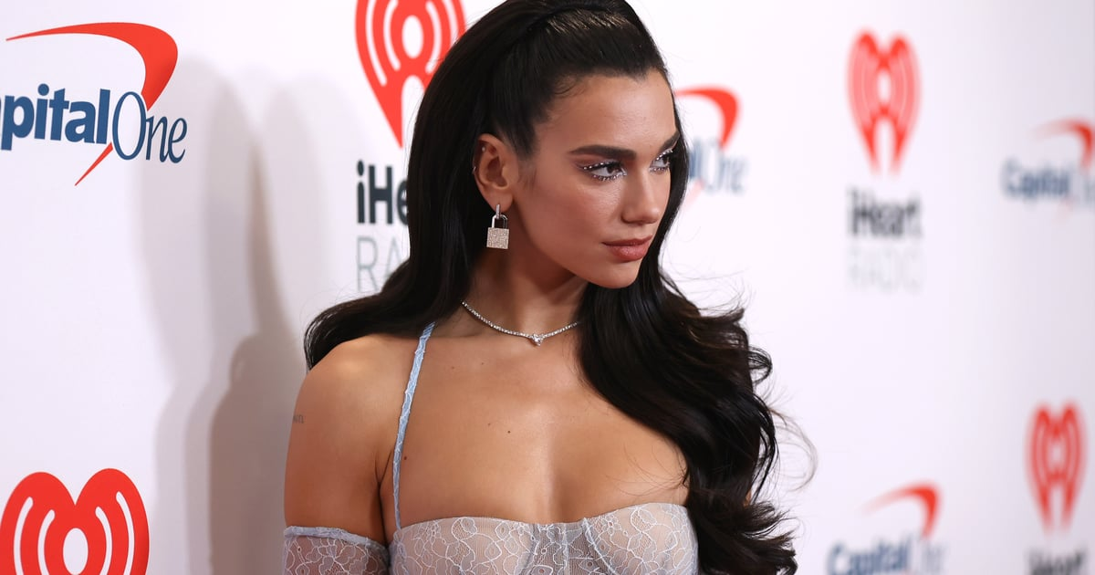 Dua Lipa's Lace Catsuit at iHeartRadio Music Competition 2021