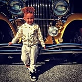 "Swizz posted a picture of a dressed-up Egypt in January 2014, writing, ""#Gatsby EGY :)"""
