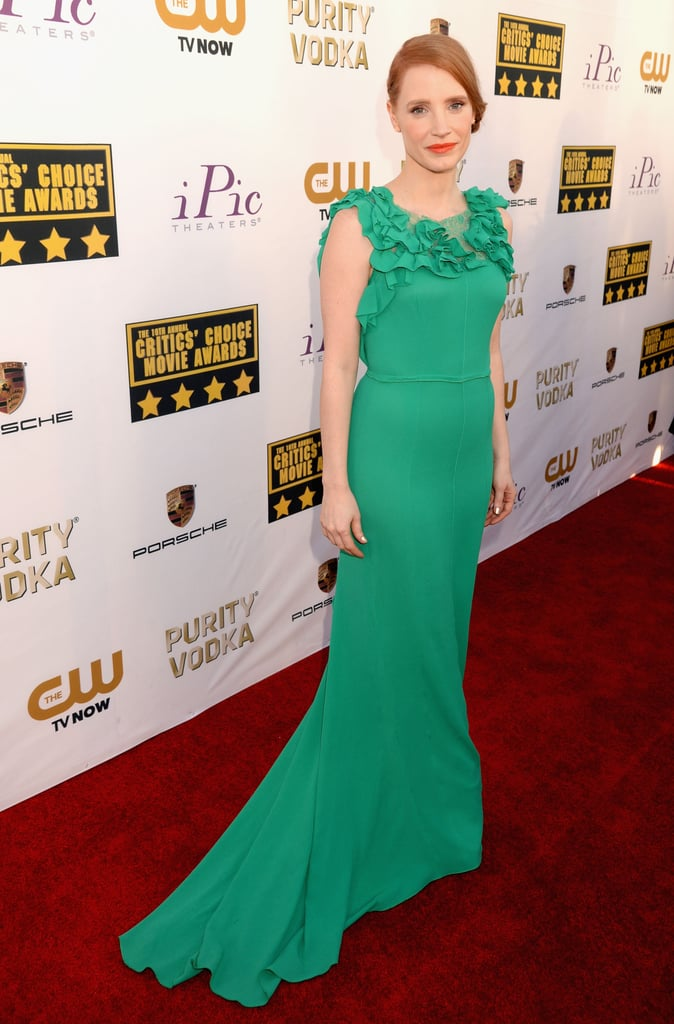 Jessica Chastain at the Critics' Choice Awards 2014