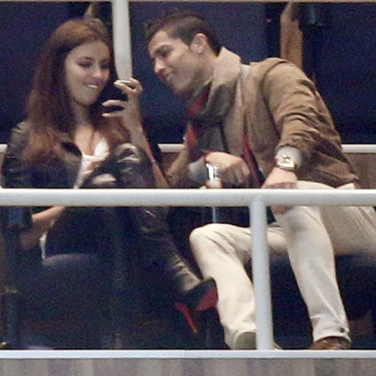 Pictures of Cristiano Ronaldo and Irina Shayk Kissing at a Soccer Game