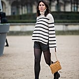 Give shorts a longer life when cold weather hits by layering tights underneath.