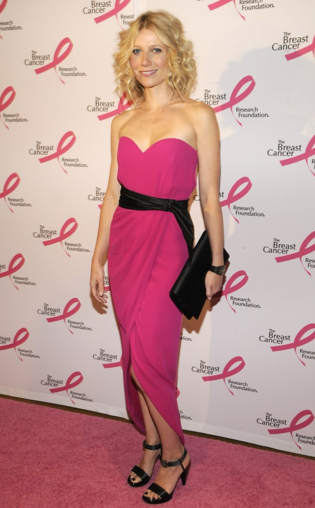 Gwyneth Paltrow dressed for the occasion at NYC's Breast Cancer Research Foundation's Hottest Pink Party Ever in April 2008.
