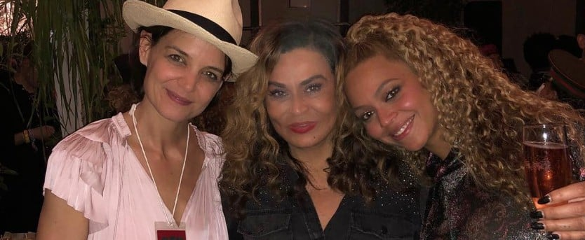 Katie Holmes, Beyoncé, and Tina Knowles at Coachella