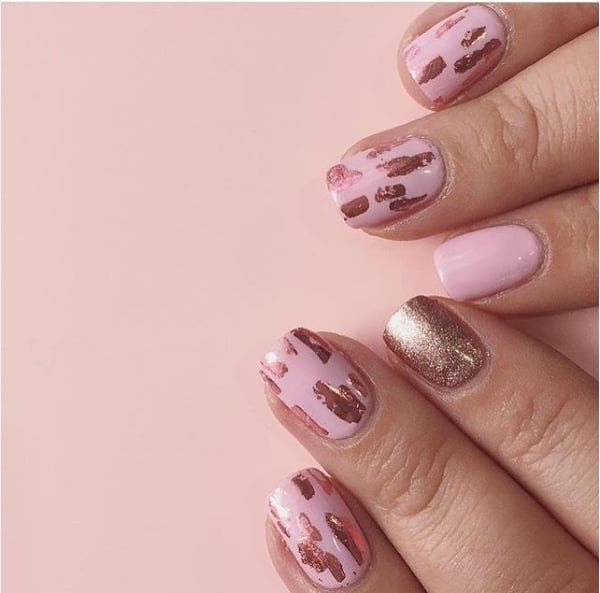 Rose Gold Nail Art | POPSUGAR Beauty