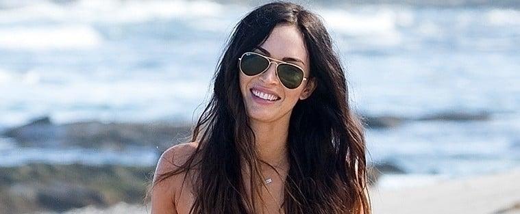 Megan Fox Striped Bikini