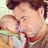 Dean McDermott and baby Finn looked very comfortable for their lil snooze.  Source: Instagram user torianddean