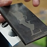 A wallet etched at FabCafe.