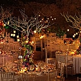 Autumnal hues and romantic candlelight create the perfect atmosphere for this fall wedding.