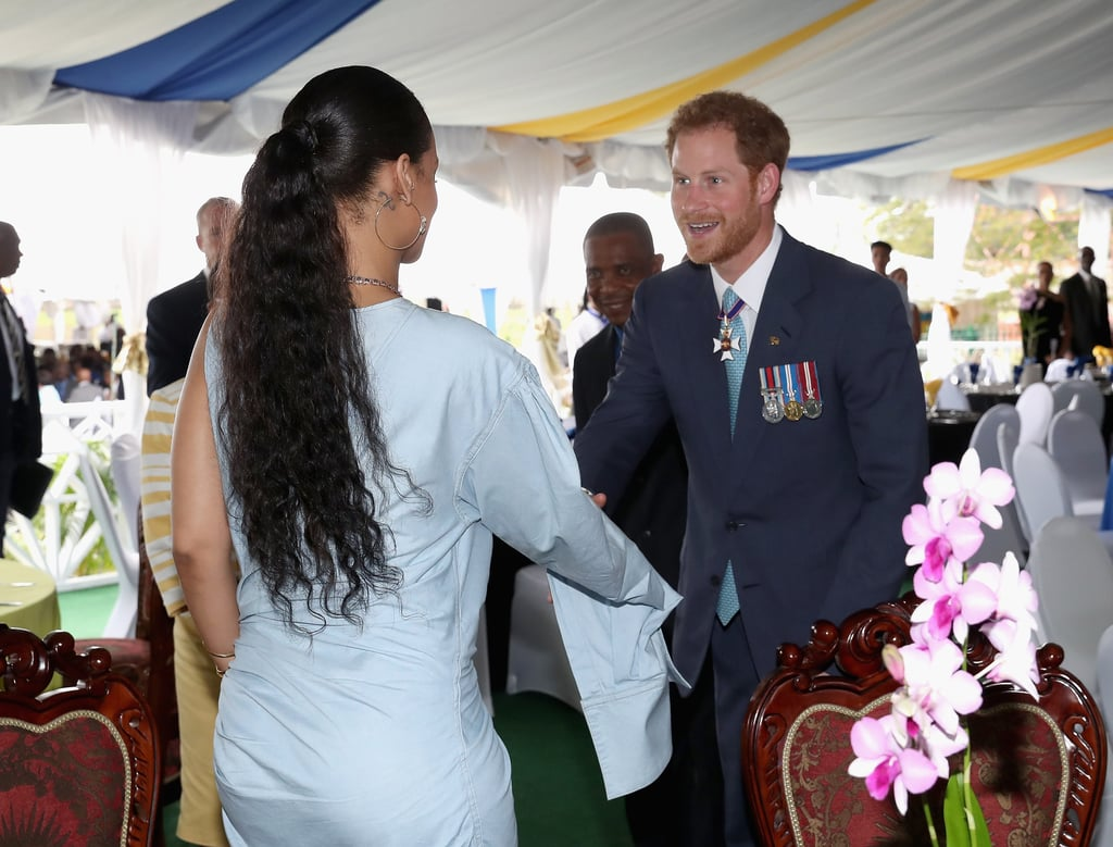 2016 Marked 50 years of independence in Barbados, and the country pulled out all the stops to celebrate their monumental achievement. Prince Harry, who had been touring the Caribbean, was at the Toast to the Nation event to commemorate the benchmark, but he wasn't the only royalty to show up. Legendary pop princess Rihanna was also in attendance at the event. We knew the two would cross paths before Prince Harry even embarked on his journey, but now that the day has finally arrived, we're overjoyed to see the two finally connect. Watch the beautiful moment unfold in the pictures below.