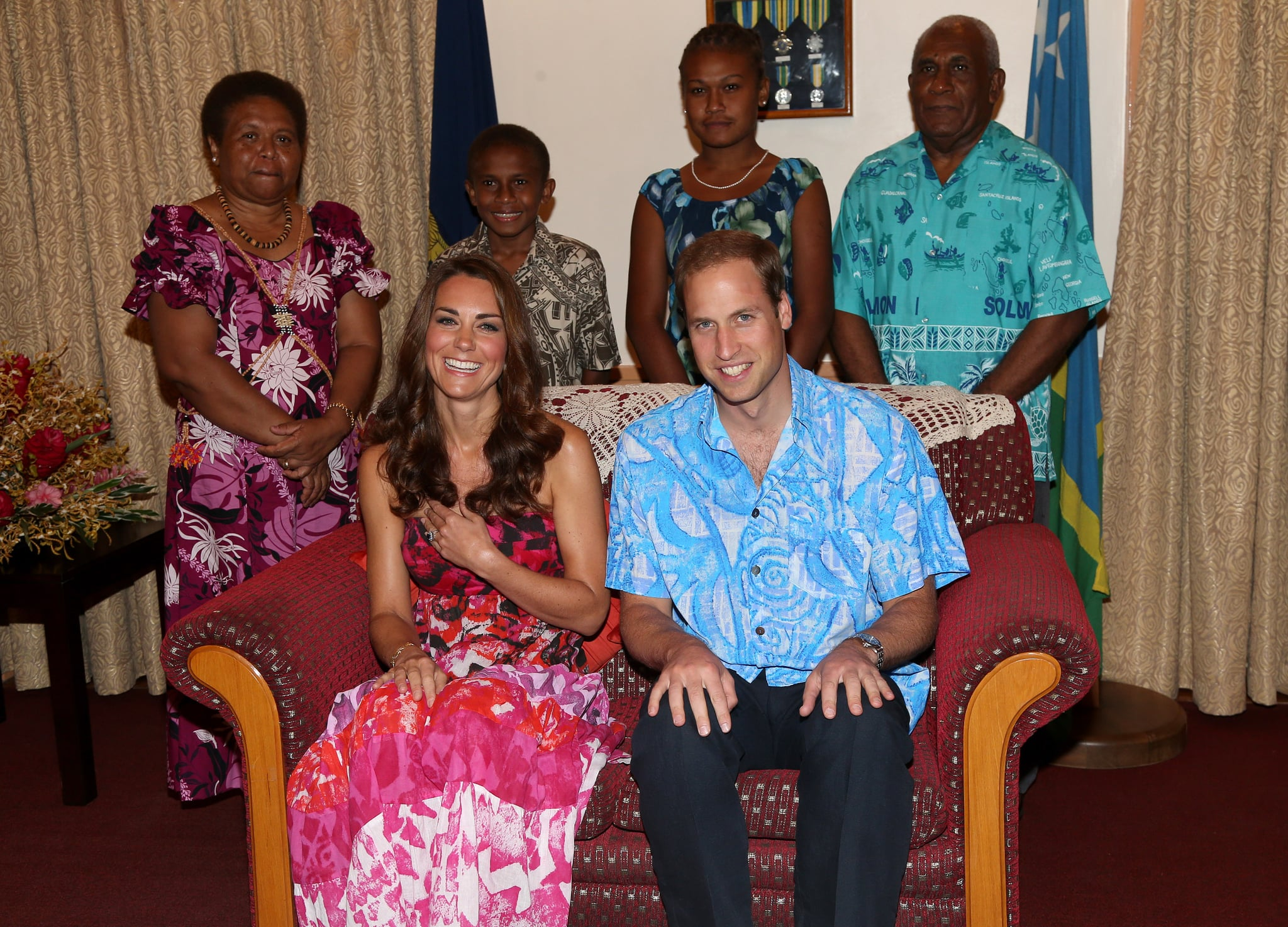 Will and Kate looked relaxed in Honiara, Guadalcanal Island, in 2012.