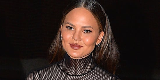 Chrissy Teigen Kicks Off Sheer Turtleneck Season With The Perfect Fall Outfit
