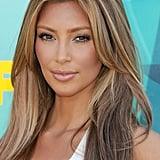 Kim Kardashian With Blond Highlights