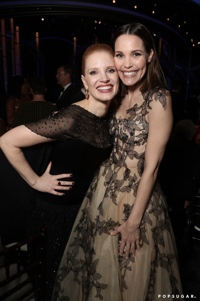 Pictured: Jessica Chastain and Leslie Bibb