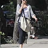 Cameron Diaz listened to her headphones in NYC.