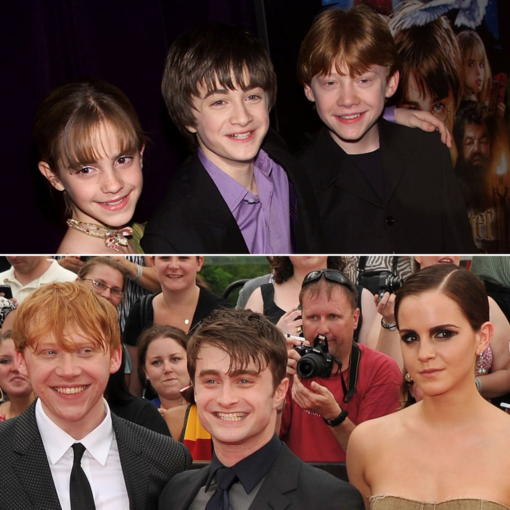 This is the cast at their first premiere in 2001 and their last in 2011.