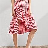 SheIn Gingham Asymmetric Frill Skirt