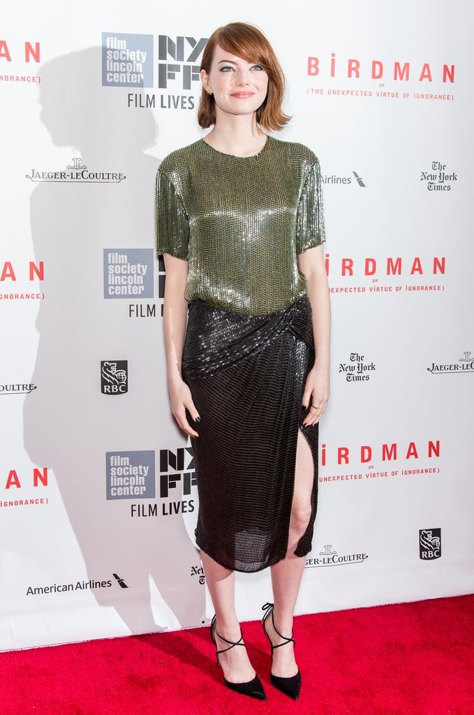 Emma Stone at the Closing Night Gala of Birdman