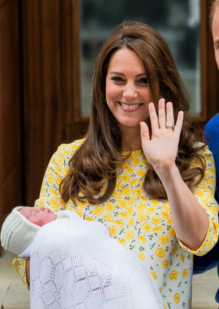 When She Had a Huge Grin After the Birth of Charlotte in May 2015