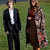 Melania Trump Wearing a Stella McCartney Coat