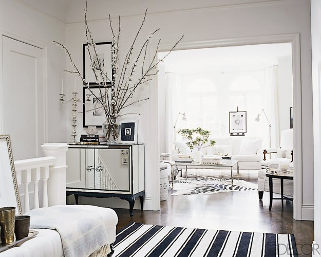 ask casa elle decor black and white striped rug