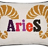 Jonathan Adler Aries Zodiac Needlepoint Throw Pillow