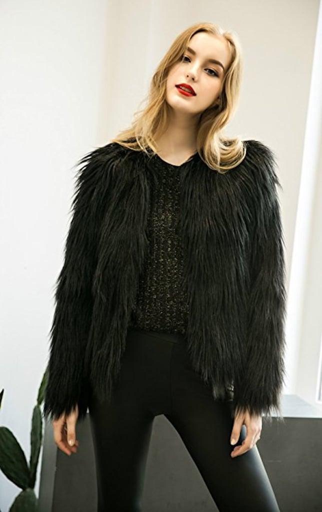 Caracilia Fluffy Faux Fur Coat