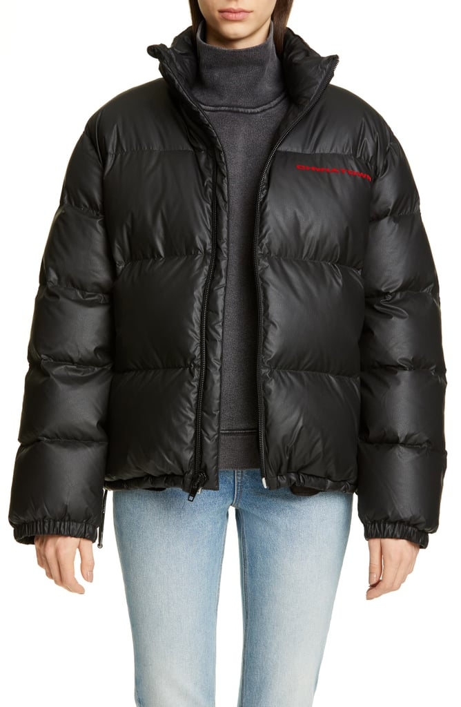 Alexander Wang Chynatown Faux-Leather Down Puffer Coat