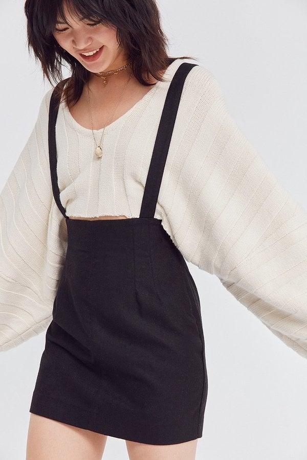Silence + Noise High-Rise Suspender Mini Skirt