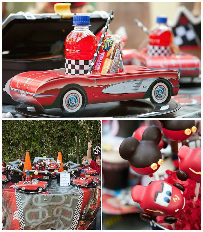 Heart Racing Disney Cars Themed Birthday Party