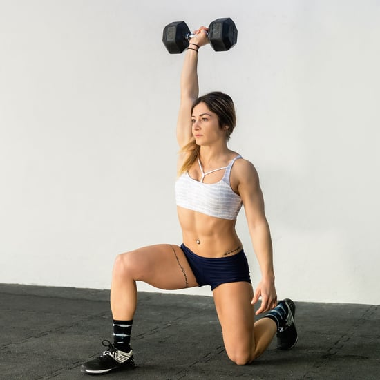Single Arm Dumbbell Overhead Lunge