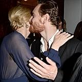 Michael Fassbender gave Cate Blanchett a peck at the AACTA International Awards.