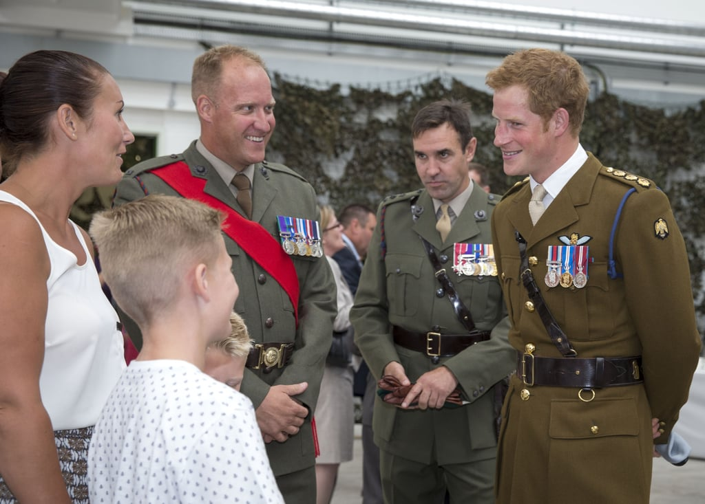 Auto Center Front Royal >> Prince Harry In Military Uniform, Talks About Royal Baby | POPSUGAR Celebrity Australia