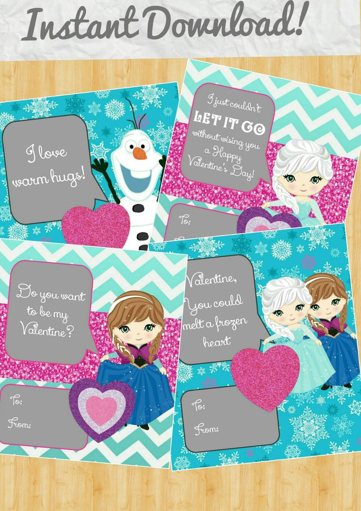 Frozen Heart Valentine's Day Cards