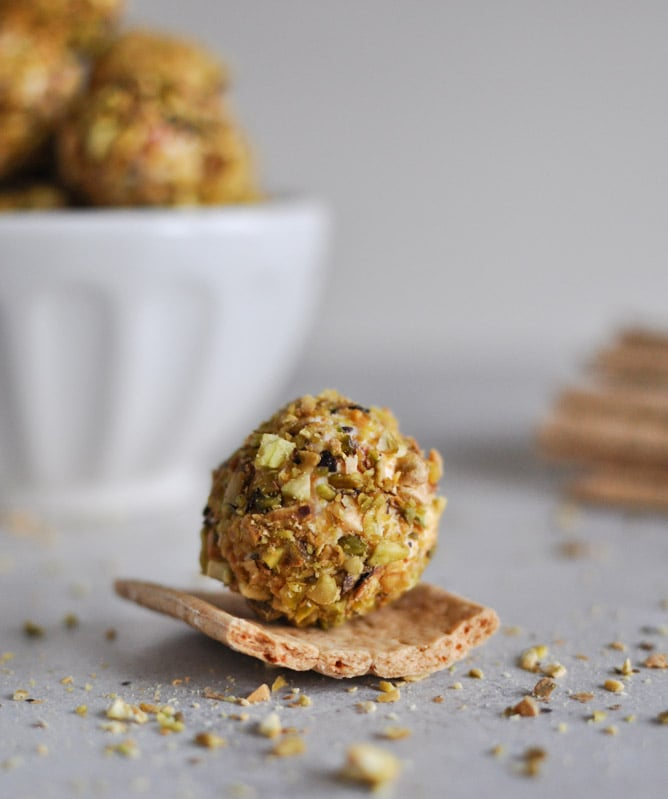 Roasted Red Pepper and Bacon Goat Cheese Truffles