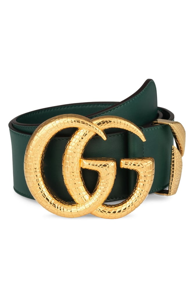 abfdbd6e1 Gucci GG Marmont Lizard Buckle Leather Belt | Best Belts For Women ...
