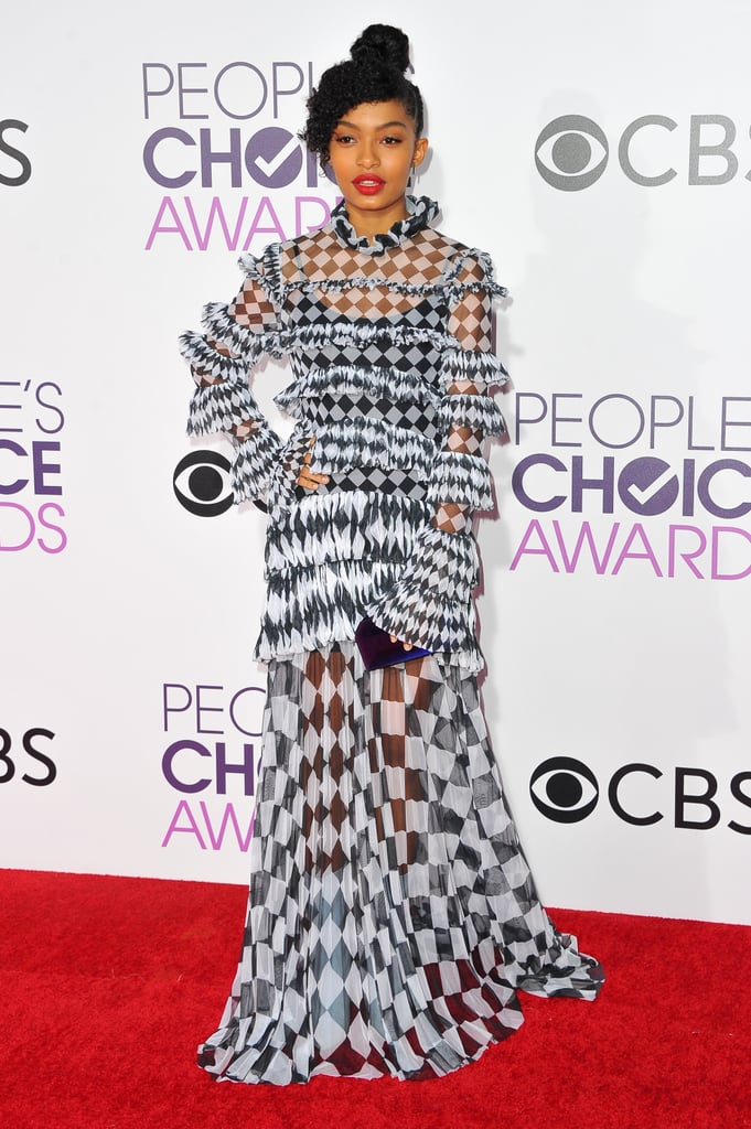 Yara Shahidi at the 2017 People's Choice Awards.