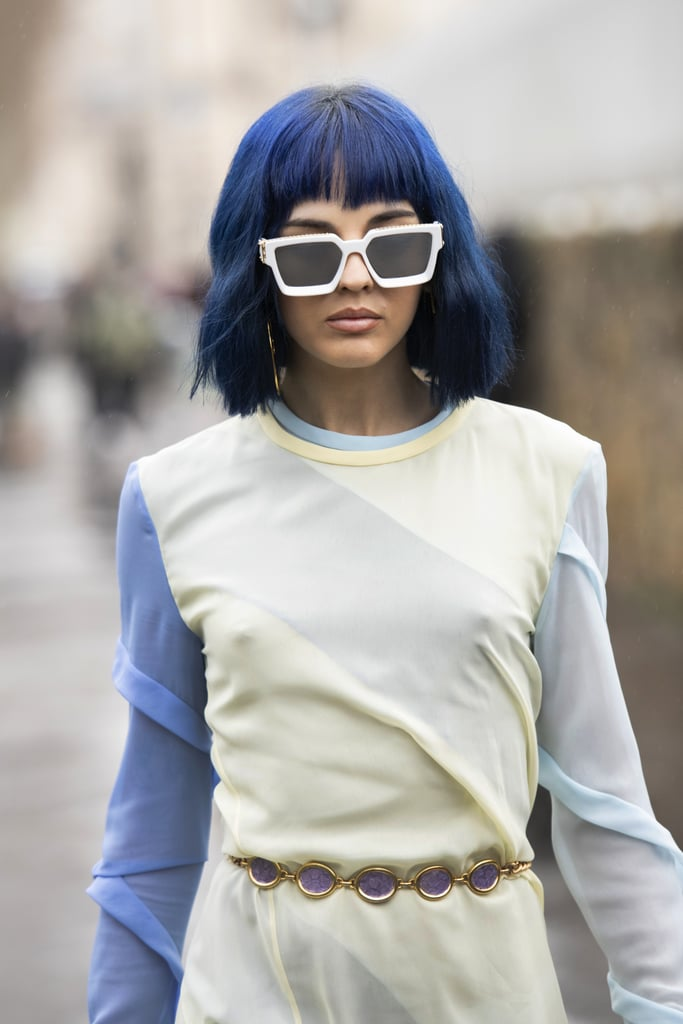 Winter Hair Color Trend: Blue Wave