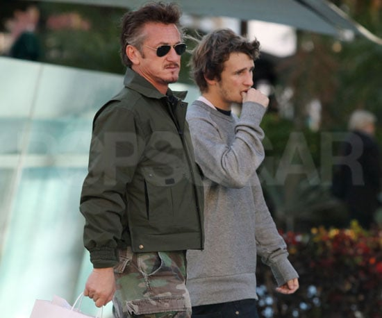Slide Picture of Sean Penn Shopping With His Son Hopper in Miami
