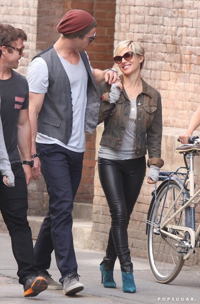 Chris Hemsworth and Elsa Pataky held hands as they walked through NYC.