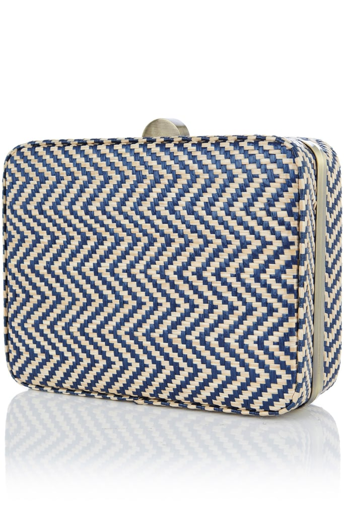 Nantucket raffia meets nautical chevron in this two-in-one bag. Carry it as an evening clutch or rock it during the day as a shoulder bag — the choice is yours.