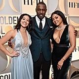 Gina Rodriguez, Idris Elba, and Taraji P. Henson at the Golden Globes 2019