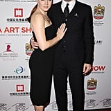On Wednesday, Amy Adams hit the red carpet at the LA Art Show's opening night with her fiancé, Darren Le Gallo.