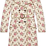 Gucci Roses Print Leather Trench Coat