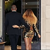 They held on to each other while making their way to Beyoncé's performance at Blue Ivy's school in March 2016.