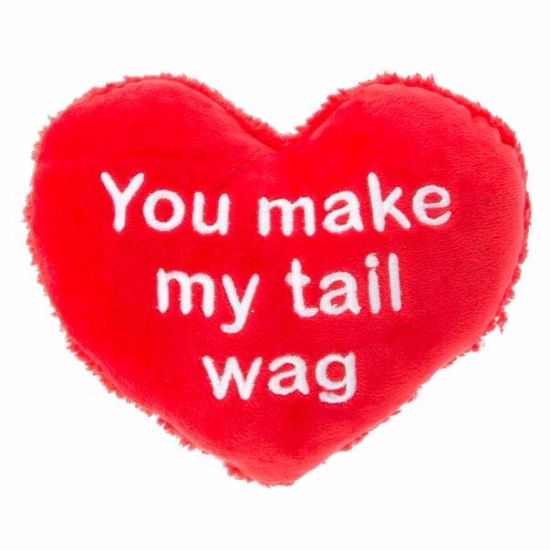 "Grreat Choice Valentine's ""You Make My Tail Wag"" Heart Dog Toy ($3)"