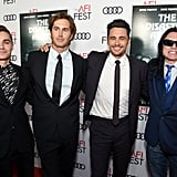 Dave Franco, Greg Sestero, James Franco, and Tommy Wiseau