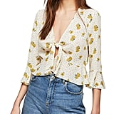 Miss Selfridge Floral Ditsy Tie Front Blouse